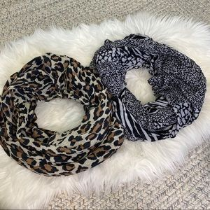 Accessories - Two large Scarf set animal print